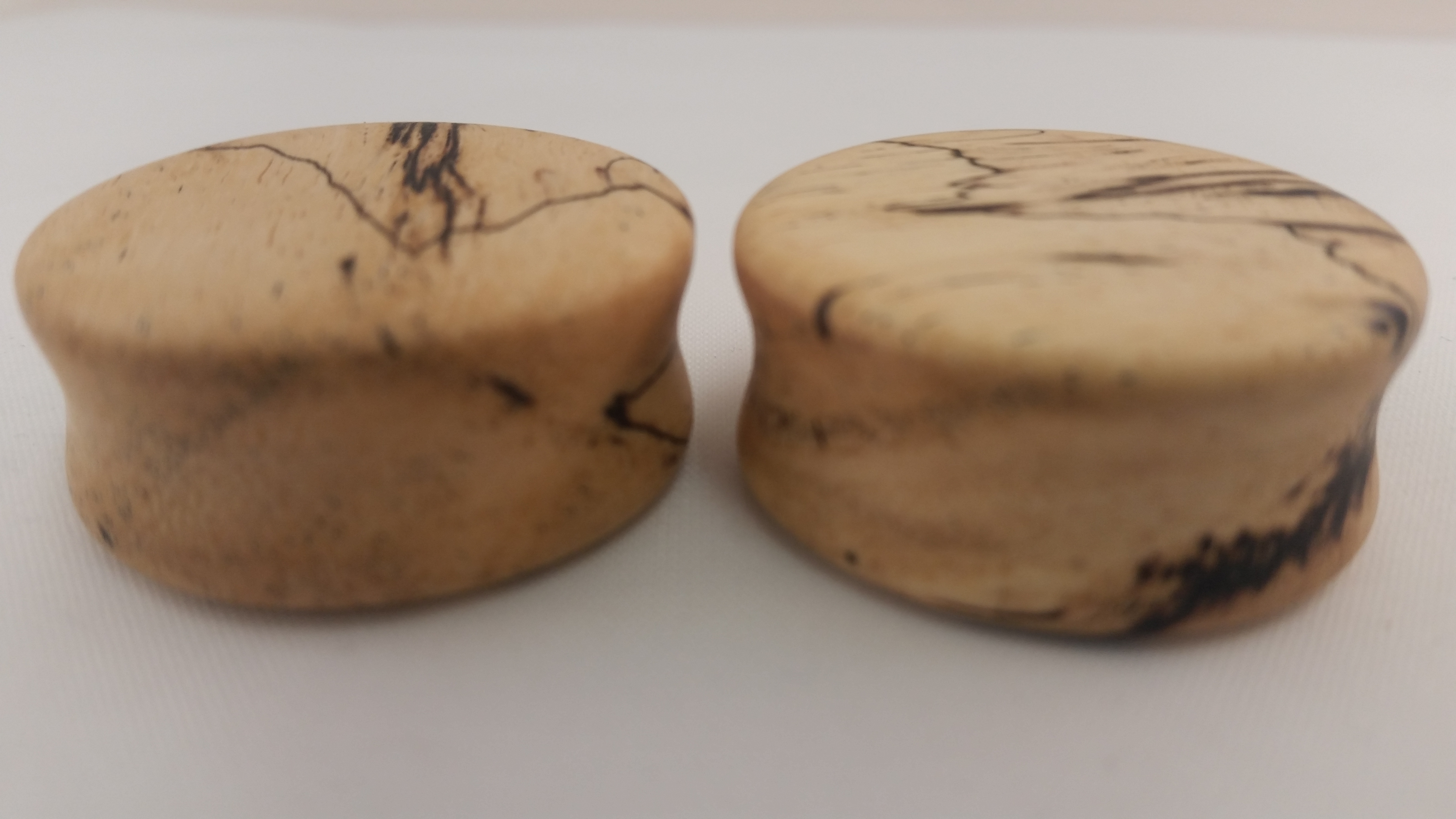 Spalted tamarind wood plugs 1 1 8 wingnut tattoo and for Tattoo shops in st cloud mn