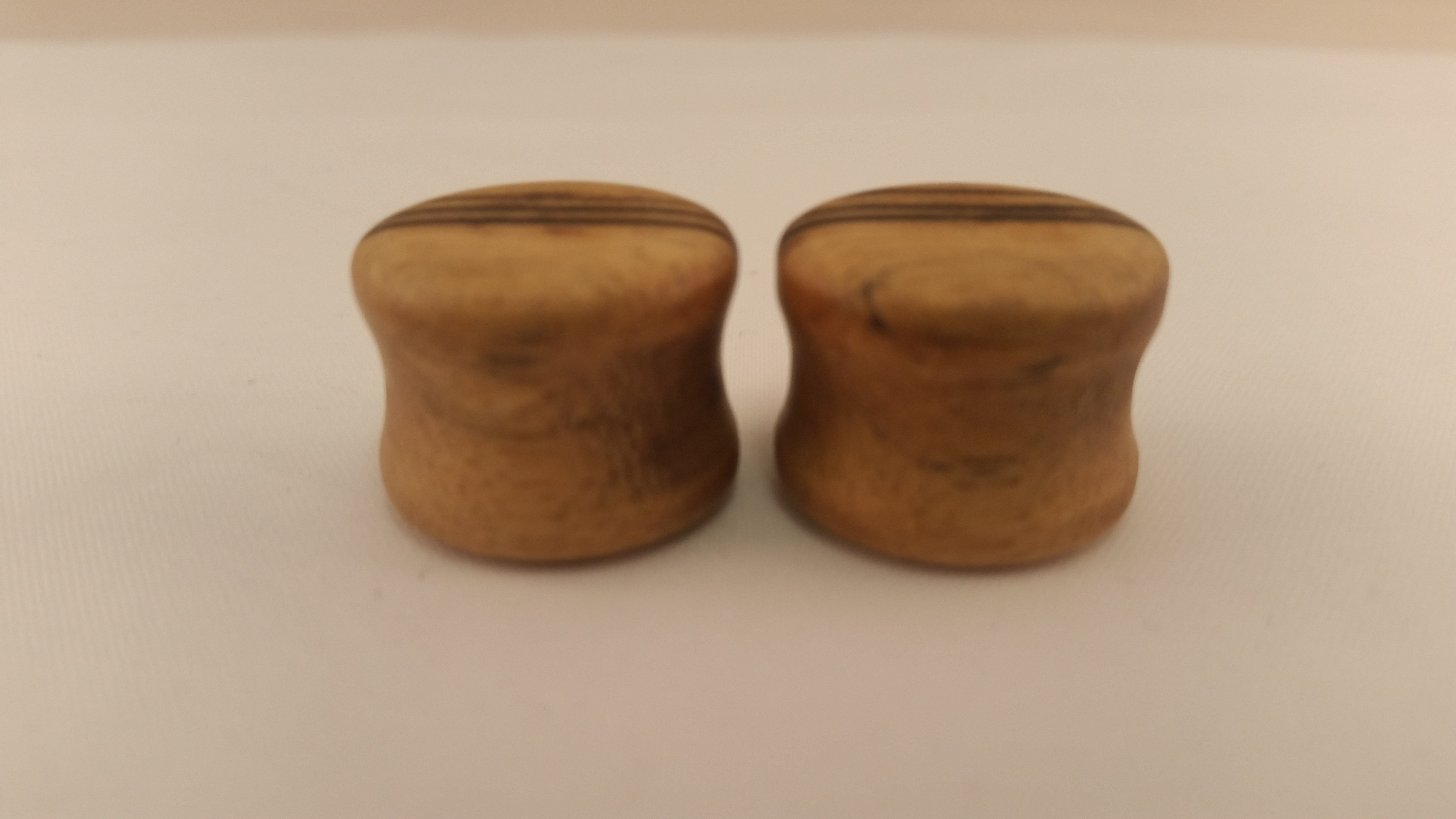 Black white ebony wood plugs 5 8 wingnut tattoo and for Tattoo shops in st cloud mn